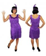 Deluxe 20's Flapper Costume Purple (ILFD4611)
